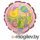 Все для праздника Шар фольгированный Anagram Happy Birthday Малыш девочка 1352145