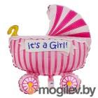 Все для праздника Шар фольгированный Flexmetal Коляска детская Pink 1552327