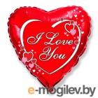 Все для праздника Шар фольгированный Flexmetal I Love You Red 1260853
