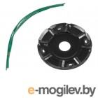 Головка триммерная DGM TH-221 леска ф 2.4 мм ручн., блистер (леска до 2.4 мм, 120x25.4 мм, паук, 8 выходов)