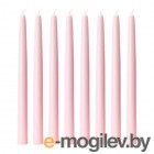КЛОКХЕТ Неароматическая свеча, светло-розовый/светло-зеленый 8 шт