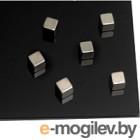 Комплект магнитных кнопок 2x3  AM151 (6шт) серебристый
