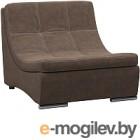 Кресло модульное Woodcraft Монреаль темно-коричневая замша