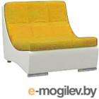 Кресло модульное Woodcraft Монреаль горчичный велюр/белый кожзам