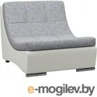 Кресло модульное Woodcraft Монреаль серая рогожка/белый кожзам