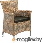 Мебель/комплект для сада Garden4you Стул WICKER-1 с подушкой 12699, тёмно-коричневый