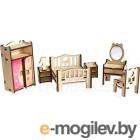 Сборная игрушка Woody Набор мебели. Спальня / 02178