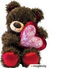 Мягкая игрушка Fancy Медвежонок Чиба с сердцем (МЧС01)