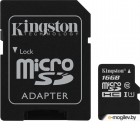 Карта памяти MicroSDXC 16GB  Kingston Class 10 UHS-I U1 Canvas Select + адаптер  [SDCS/16GB]