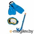Все для плавания Набор маска  трубка  ласты Intex World Sport Swim Set 55953
