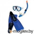 Все для плавания Набор маска  трубка  ласты Intex Reef Rider Sport Set 55957