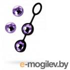 Набор вагинальных шариков TOYFA A-toys, ABS пластик+силикон, фиолетовый, 14,6 см.