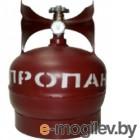 Баллон газовый стальной с вентилем баллонным Крым, 5 л