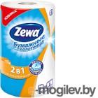 Бумажные полотенца Zewa 2 в 1 (1рул)