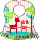 Нагрудник детский BabyOno Слюнявчик-кенгурёнок с расстёгиваемым карманом, 3м+ 836 розовый