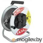 Удлинитель силовой LUX 45150  на металл. катушке К4-Е-50 КГ 3x2.5 50м 16А 4розетки с з/к от -40°С