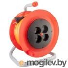 Удлинитель на катушке LUX К4-О-25  25м ПВС 2x0.75 6А 4 розетки без заземления (24025)(2)