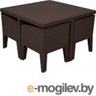 Мебель/комплект для сада Keter Комплект мебели Columbia dining set (5 предметов), коричневый