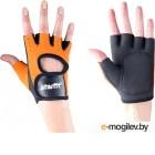Перчатки для пауэрлифтинга Starfit SU-107 (S, оранжевый/черный)