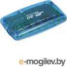 Картридер USB 2.0 - Gembird [FD2-ALLIN1] <Blue>
