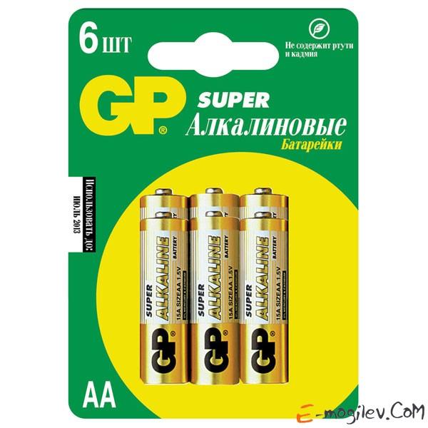 GP 15A-CR6 АА 6 шт