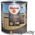 Лазурь декоративная Alpina Aqua Lasur fuer Holz (750мл, натуральный орех)