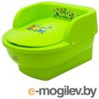 Детский горшок Maltex Трон Мишка и друзья / 5429 (зеленый)