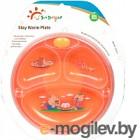Тарелка для кормления Sun Delight С подогревом и присоской 33017 (оранжевый)