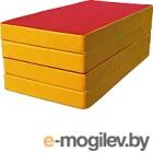 Гимнастический мат KMS sport Складной №5 1x2x0.1м (красный/желтый)