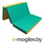 Гимнастический мат KMS sport Складной №4 1x1.5x0.1м (зеленый/желтый)