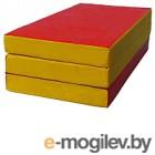 Гимнастический мат KMS sport Складной №4 1x1.5x0.1м (красный/желтый)