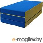 Гимнастический мат KMS sport Складной №4 1x1.5x0.1м (синий/желтый)