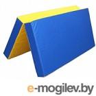 Гимнастический мат KMS sport Складной №3 1x1x0.1м (синий/желтый)