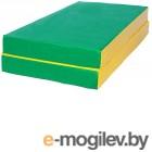 Гимнастический мат KMS sport Складной №3 1x1x0.1м (зеленый/желтый)