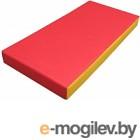Гимнастический мат KMS sport №1 1x0.5x0.1м (красный/желтый)