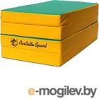 Гимнастический мат Perfetto Sport Складной №5 1x2x0.1м (зеленый/желтый)