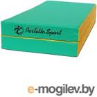 Гимнастический мат Perfetto Sport Складной №3 1x1x0.1м (зеленый/желтый)