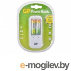 GP PowerBank, 13 часов + аккум. 2шт. 1300mAh GP