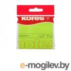 Стикеры Kores 75x75mm 100 листов Neon Green 330458