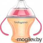BabyOno Natural Nursing c мягким носиком 6м+ / 1456 (оранжевый)