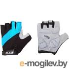 Перчатки велосипедные STG Х66457-М (M, черный/голубой)