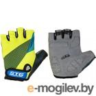 Перчатки велосипедные STG Х87910 (L, черный/салатовый/синий)