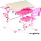 Парта+стул FunDesk Lavoro (розовый)