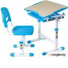 Парта+стул FunDesk Piccolino (голубой)