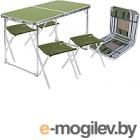 Комплект складной мебели Ника ССТ-К2 (зеленый/хаки)