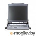 KVM-переключатель IP W/LCD 8PORT 17 VGA CL5708IM-ATA-RG ATEN