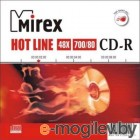 CD-R Mirex Hot Line 48x /700Mb/80min/  [ Slim ]  50A8F