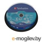 CD-R 10 шт. туба Verbatim 52x /700Mb/80min
