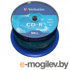 CD-R [ 50 шт. туба ] Verbatim 52x /700Mb/80min/ - Extra Protection #43351