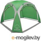 Зонт/тент уличный GREENELL Тент-шатер ПЕРГОЛА, зеленый/светло-серы